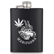 Flasque inox BARBARIC 40125GR4226 225 ml noire - Marijuana